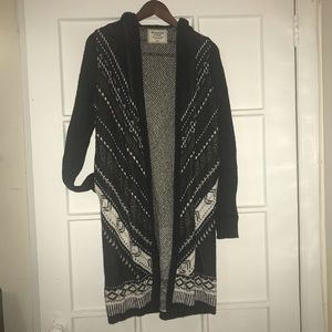 Abercrombie & Fitch Hooded Long Cardigan